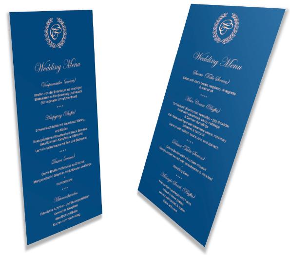 Hochzeitsausstattung-3D Menu Card