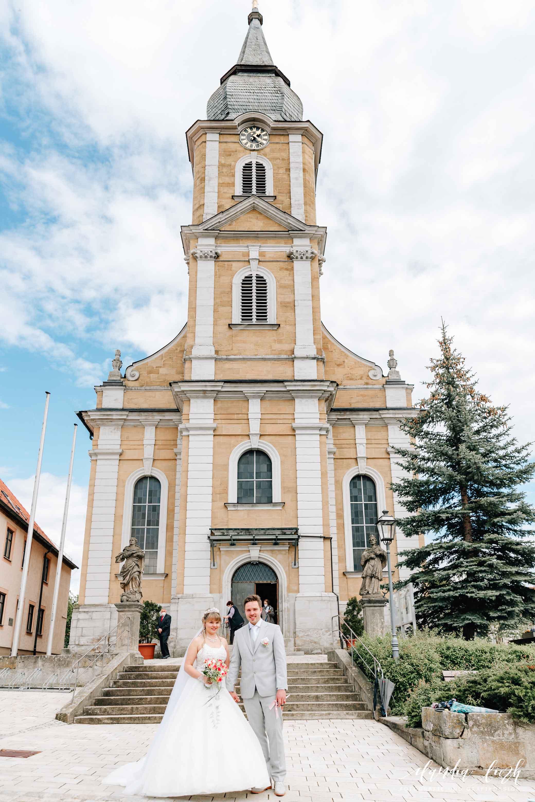 Kirchliche Hochzeit in Corona-Zeiten im fränkischen Burgkunstadt IMG 0018w