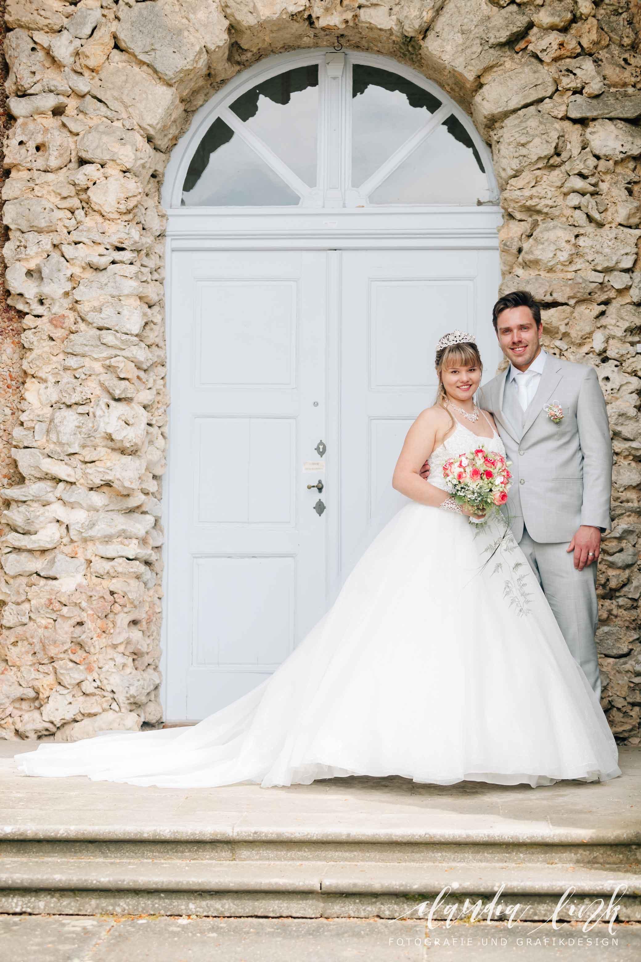 Kirchliche Hochzeit in Corona-Zeiten im fränkischen Burgkunstadt IMG 0207w