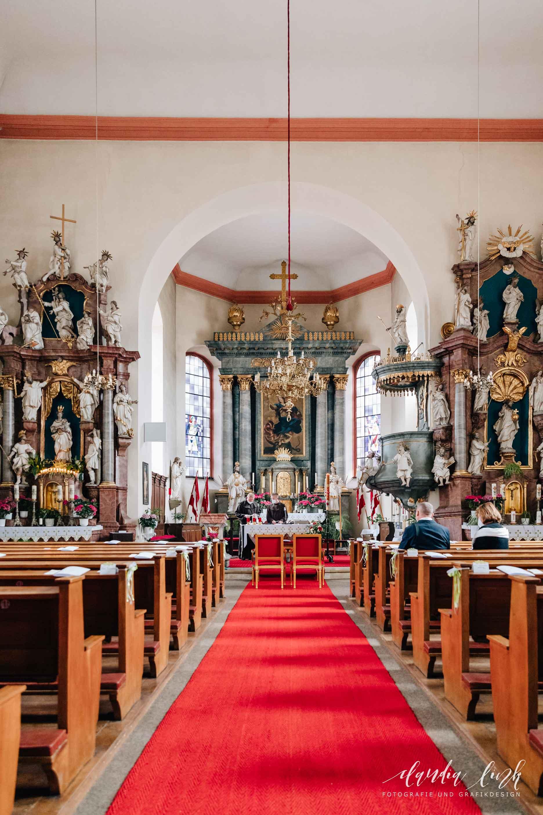 Kirchliche Hochzeit in Corona-Zeiten im fränkischen Burgkunstadt IMG 9677w